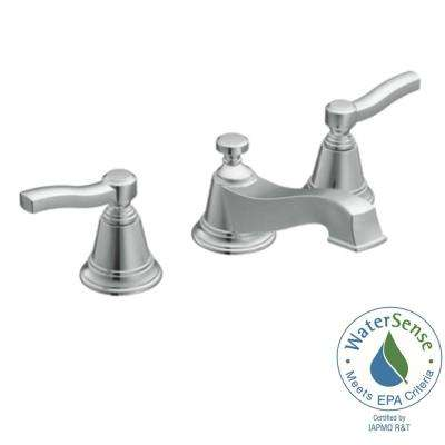 Rothbury 8 in. Widespread 2-Handle Low-Arc Bathroom Faucet Trim Kit in Chrome (Valve Not Included)