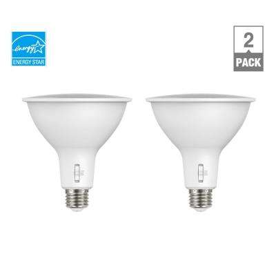 150-Watt Equivalent PAR38 Dimmable ENERGY STAR CEC LED Light Bulb Selectable CCT (2700K-3000K-5000K) (2-Pack)