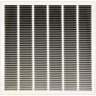 24 in. x 24 in. Return Air Vent Grille with Fixed Blades, White