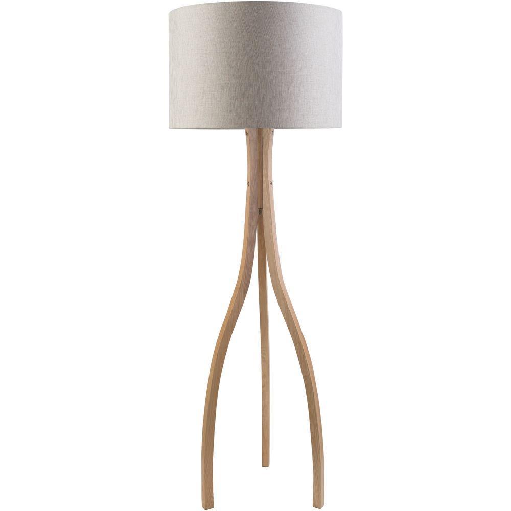 Artistic Weavers Benerito 60 In Natural Wood Indoor Floor Lamp
