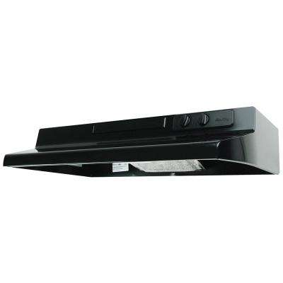 Designer Series 36 in. Under Cabinet Convertible Range Hood with Light in Black