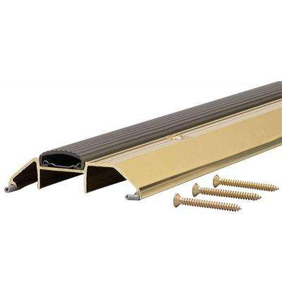 Deluxe High 3-3/4 in. x 25 in. Aluminum Threshold with Vinyl Seal