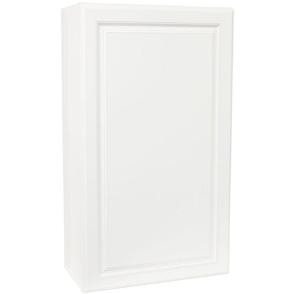 Hampton bay hampton assembled 24x42x12 in wall kitchen for Hampton bay white kitchen cabinets