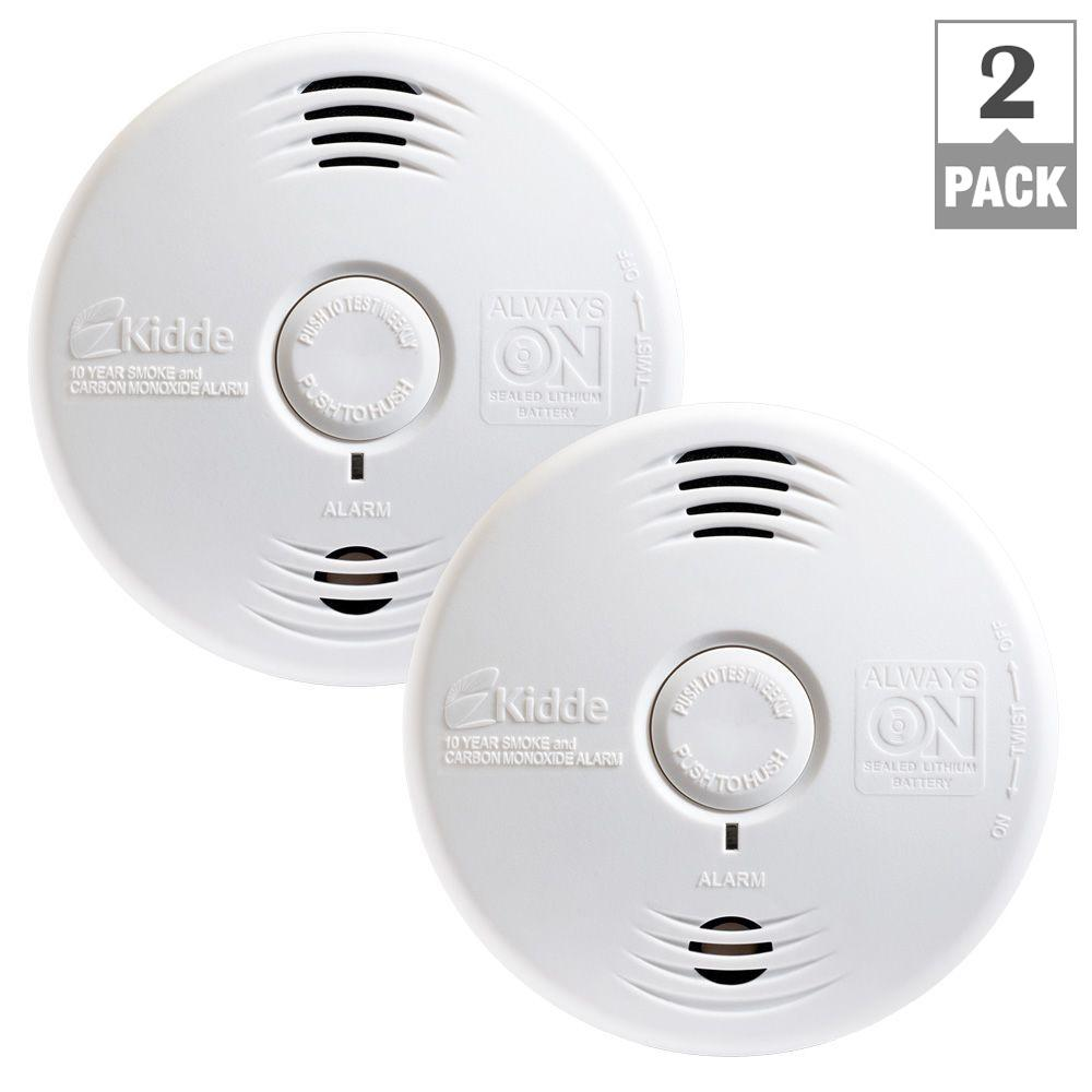Kidde Worry Free 10 Year Sealed Battery Smoke And Carbon Monoxide Detectors Wiring Diagram Download Along With Detector Combination Voice Alarm 2 Pack 21027454 The Home Depot