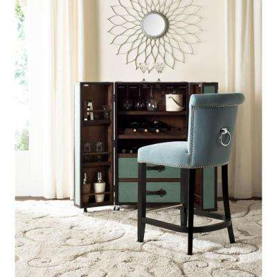 Addo 25.7 in. Sky Blue Cushioned Bar Stool