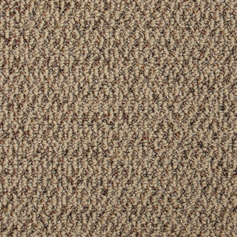 TrafficMASTER Critical Path - Color Terra Cotta Textured Graphic Berber 12 ft. Carpet