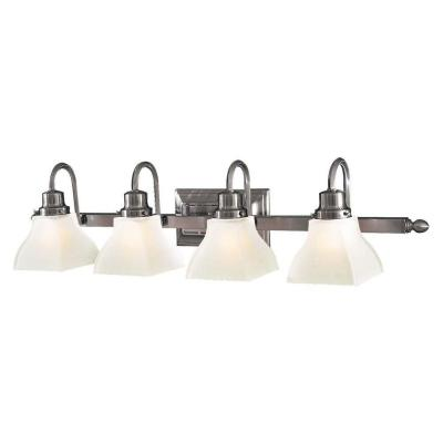 Mission Ridge 4-Light Brushed Nickel Bath Vanity Light