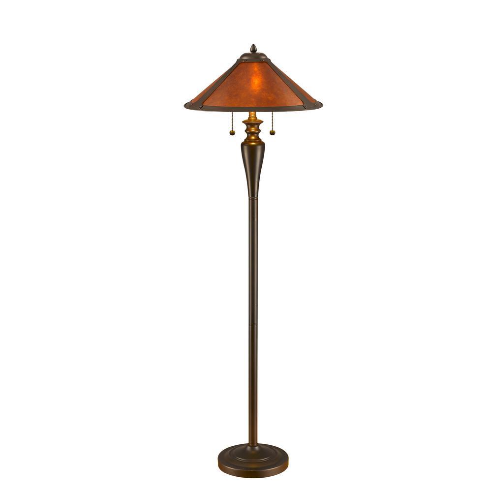 Serena D'italia 58 in. Mica Bronze Floor Lamp