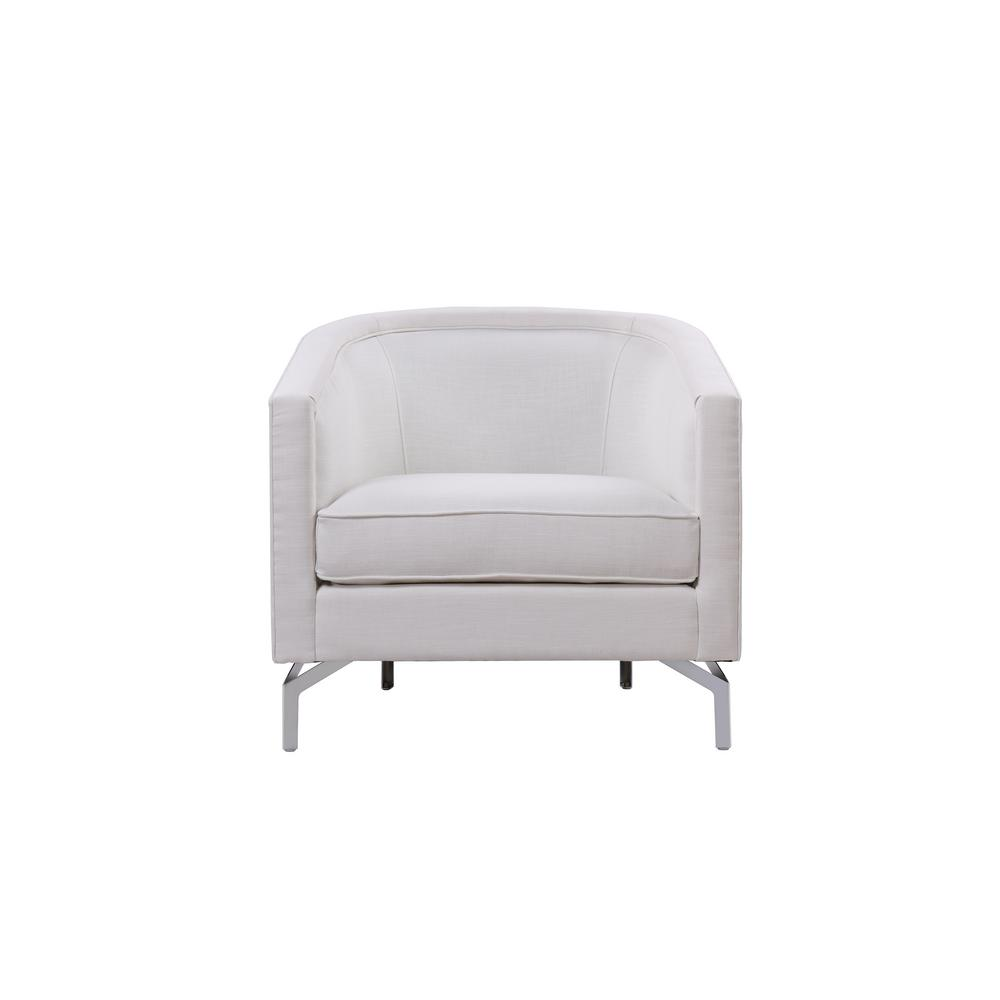 SANDY WILSON Annette Antique White Cabriole Arm Chair