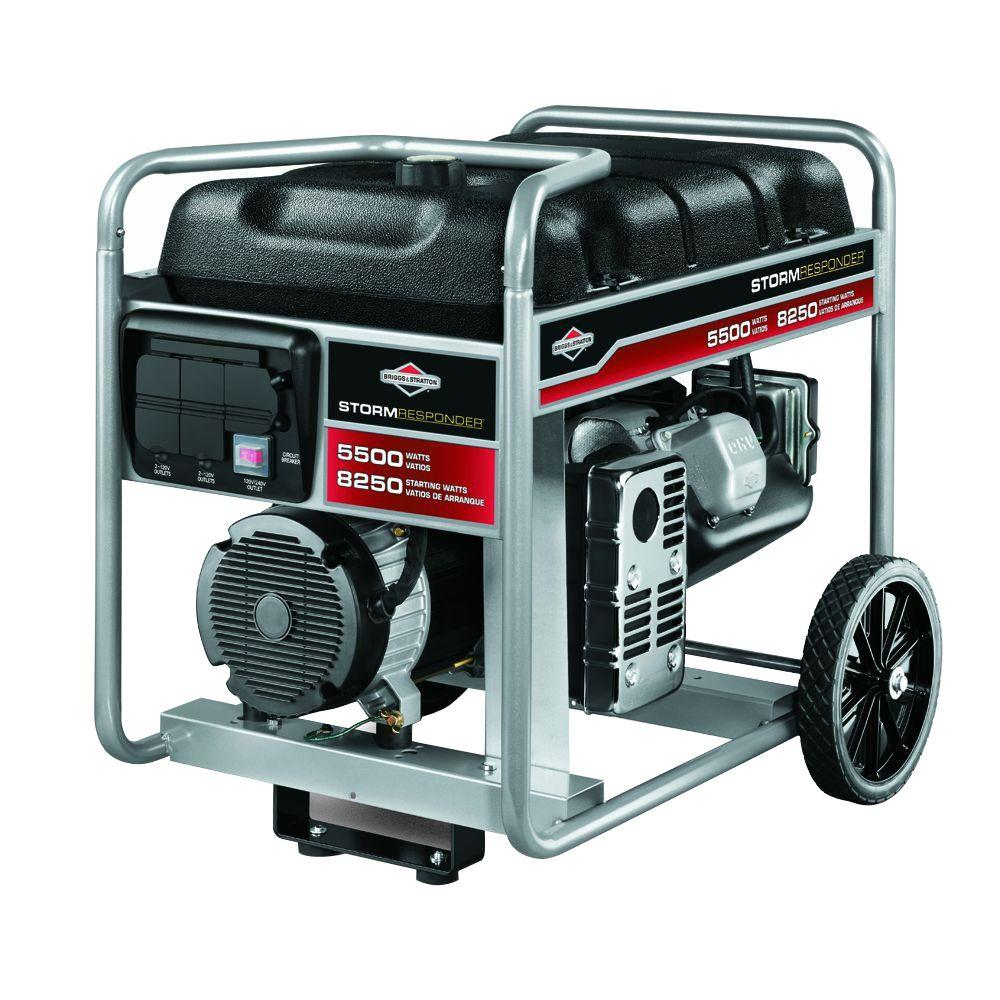 Briggs & Stratton 5,500-Watt Gasoline Powered Portable Generator