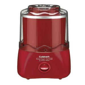 1.5 Qt. Red Frozen Yogurt and Sorbet Maker with Locking Lid