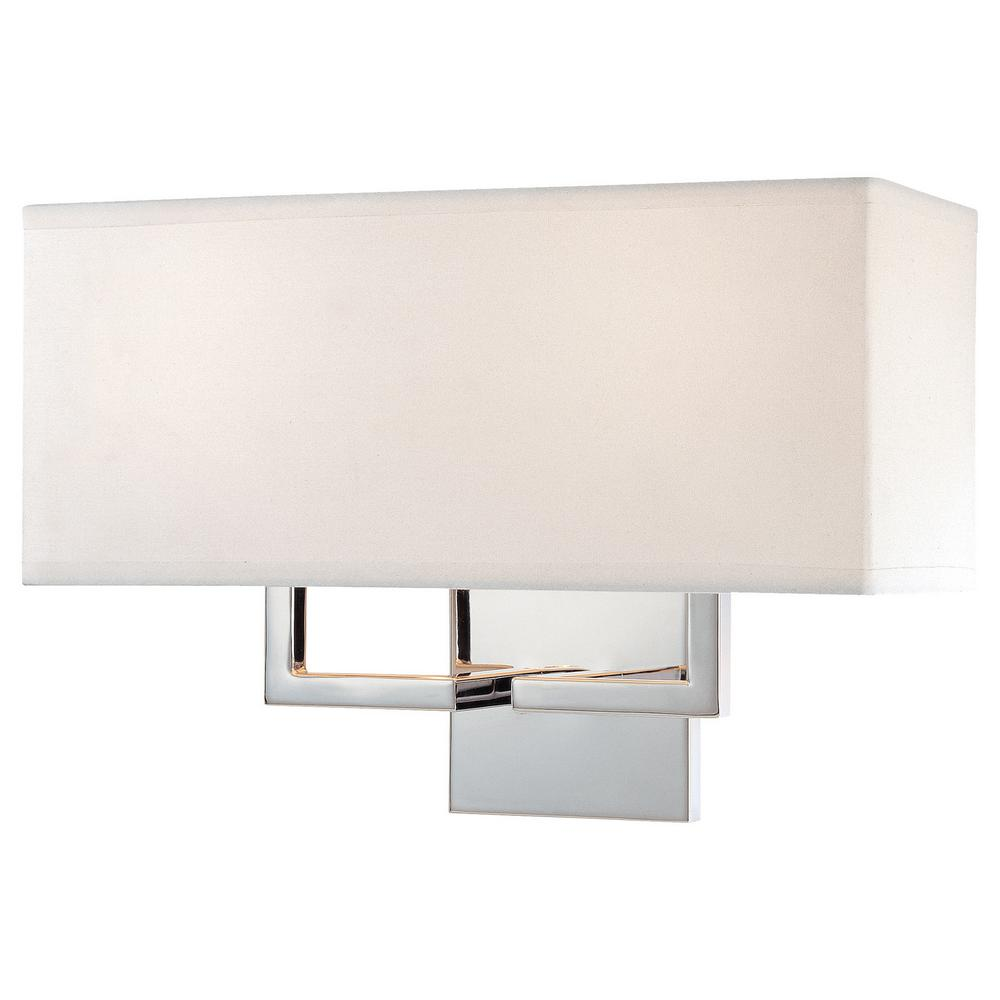 2-Light Chrome Wall Sconce