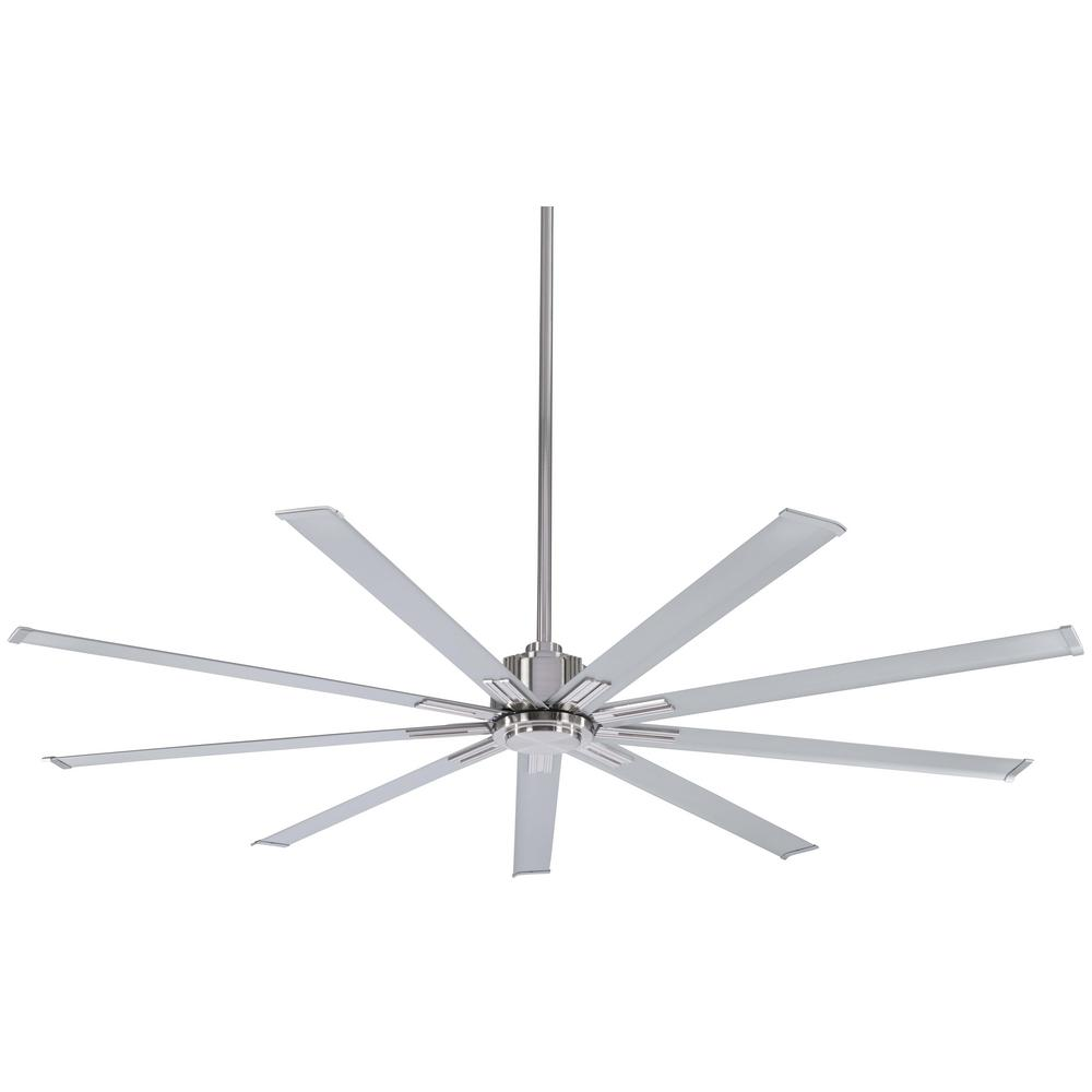 Minka-Aire Xtreme 72 in. Indoor Brushed Nickel Ceiling Fan with Remote Control