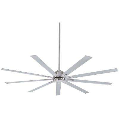 Xtreme 72 in. Indoor Brushed Nickel Ceiling Fan with Remote Control