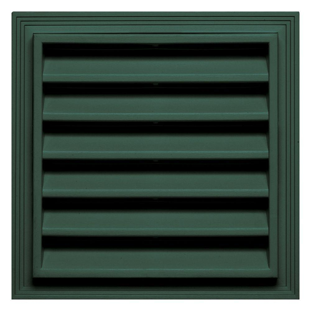 Builders Edge 12 in. x 12 in. Square Gable Vent in Forest Green