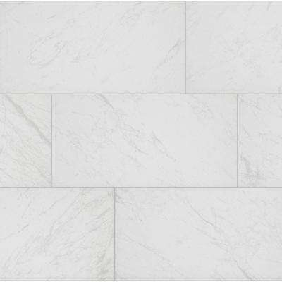 Brilliance White Rectified 12 in. x 24 in. Porcelain Floor and Wall Tile (13.3 sq. ft. / case)