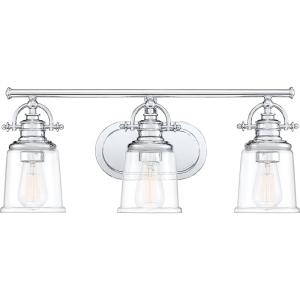 Grant 3-Light Polished Chrome Vanity Light