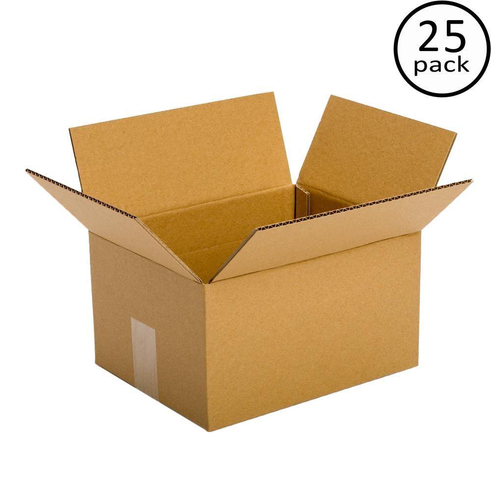 10 in. L x 6 in. W x 6 in. D Box (25-Pack)