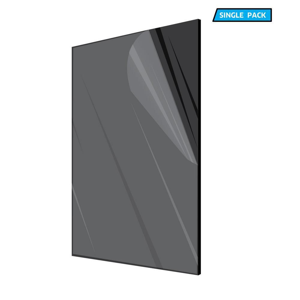 12 in. x 24 in. x 1/8 in. Black Plexiglass Acrylic Sheet