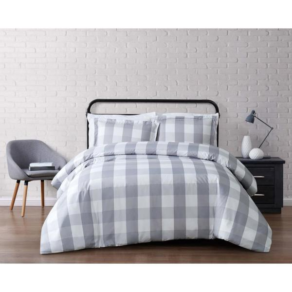 Truly Soft Everyday 2-Piece Grey Twin XL Duvet Cover Set