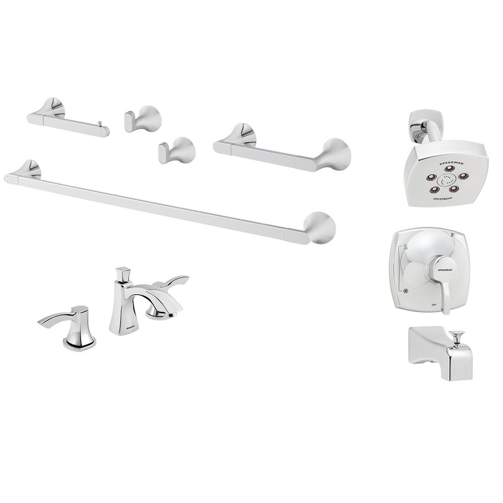 Widespread Shower Chrome Faucets Price Compare