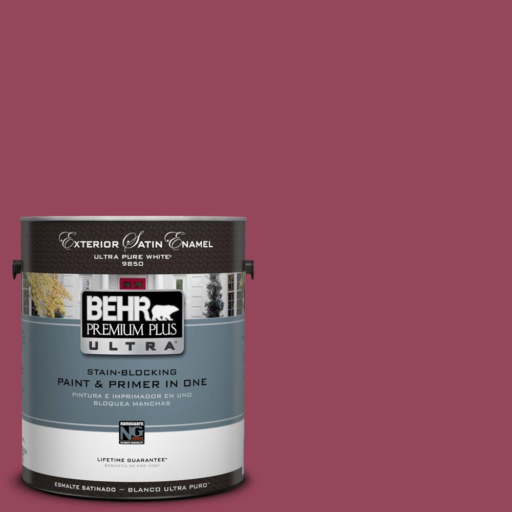 BEHR Premium Plus Ultra 1-Gal. #UL100-16 Haitian Flower Satin Enamel Exterior Paint-DISCONTINUED