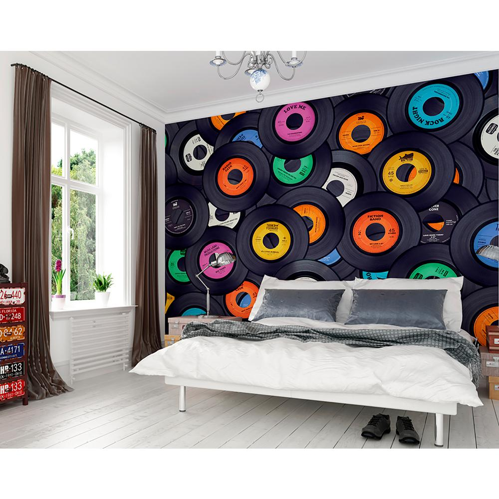 OhPopsi Vinyl Music Wall Mural WALS0320 The Home Depot