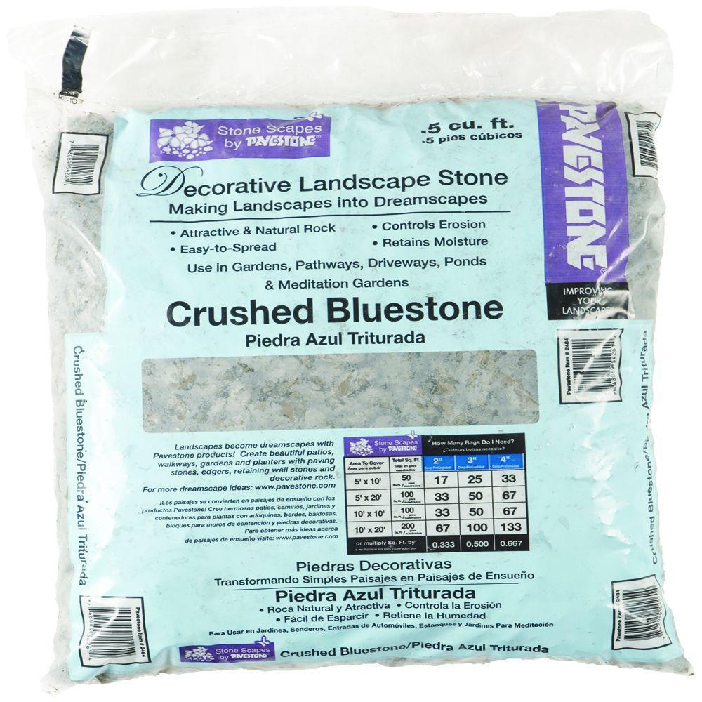 Pavestone 0 5 Cu Ft Crushed Bluestone 54261v The Home Depot