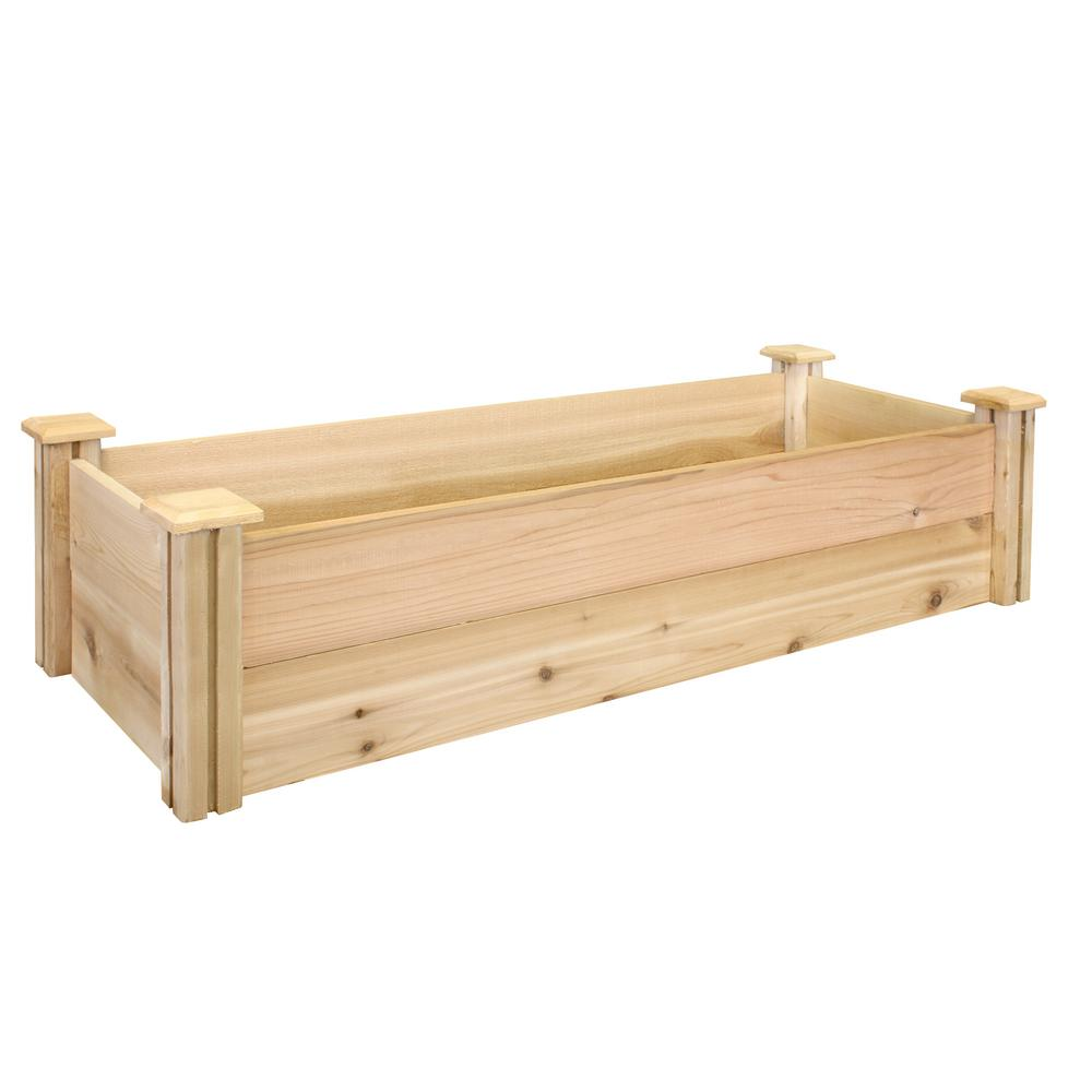 Greenes Fence 16 In X 48 In X 11 In Premium Cedar Raised Garden Bed Rc164812p The Home Depot