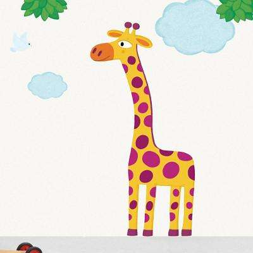 Multicolor XXL Giraffe Decorative Wall Decals Home Sticker
