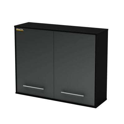 Karbon 31 in. H x 39.5 in. W x 11.75 in. D High Pure Garage Wall Mounted Cabinet Storage in Black and Charcoal