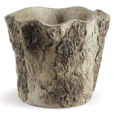 7.48 in. W x 6.69 in. H Gray Cement Planter