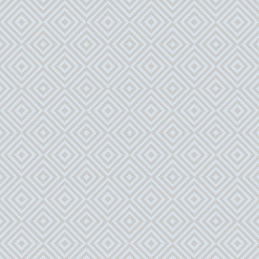 Beacon House Metropolitan Blue Geometric Diamond Wallpaper Sample