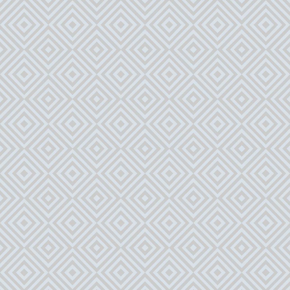 Beacon House Metropolitan Blue Geometric Diamond Wallpaper Sample