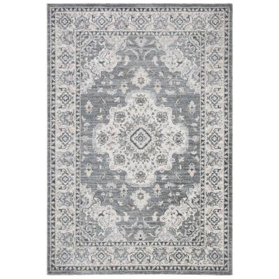 Isabella Gray/Light Gray 4 ft. x 6 ft. Area Rug