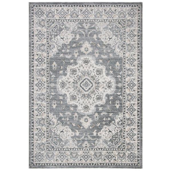 Isabella Gray/Light Gray 8 ft. x 10 ft. Area Rug