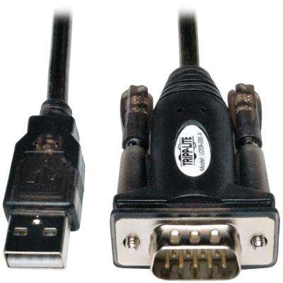 USB A-Male to D9-Male 5 ft. Serial Adapter Cable