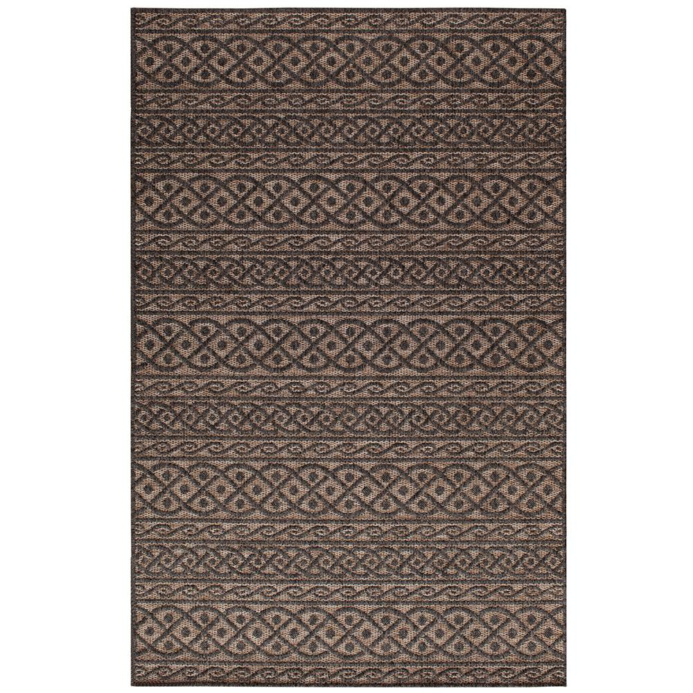 Home Decorators Collection Fordon Charcoal Tan 7 Ft 7 In