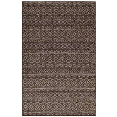 Fordon Charcoal/Tan 8 ft. x 11 ft. Rectangle Indoor/Outdoor Area Rug