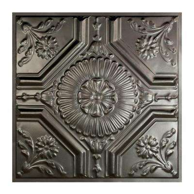 Rochester 2 ft. x 2 ft. Lay-in Tin Ceiling Tile in Argento