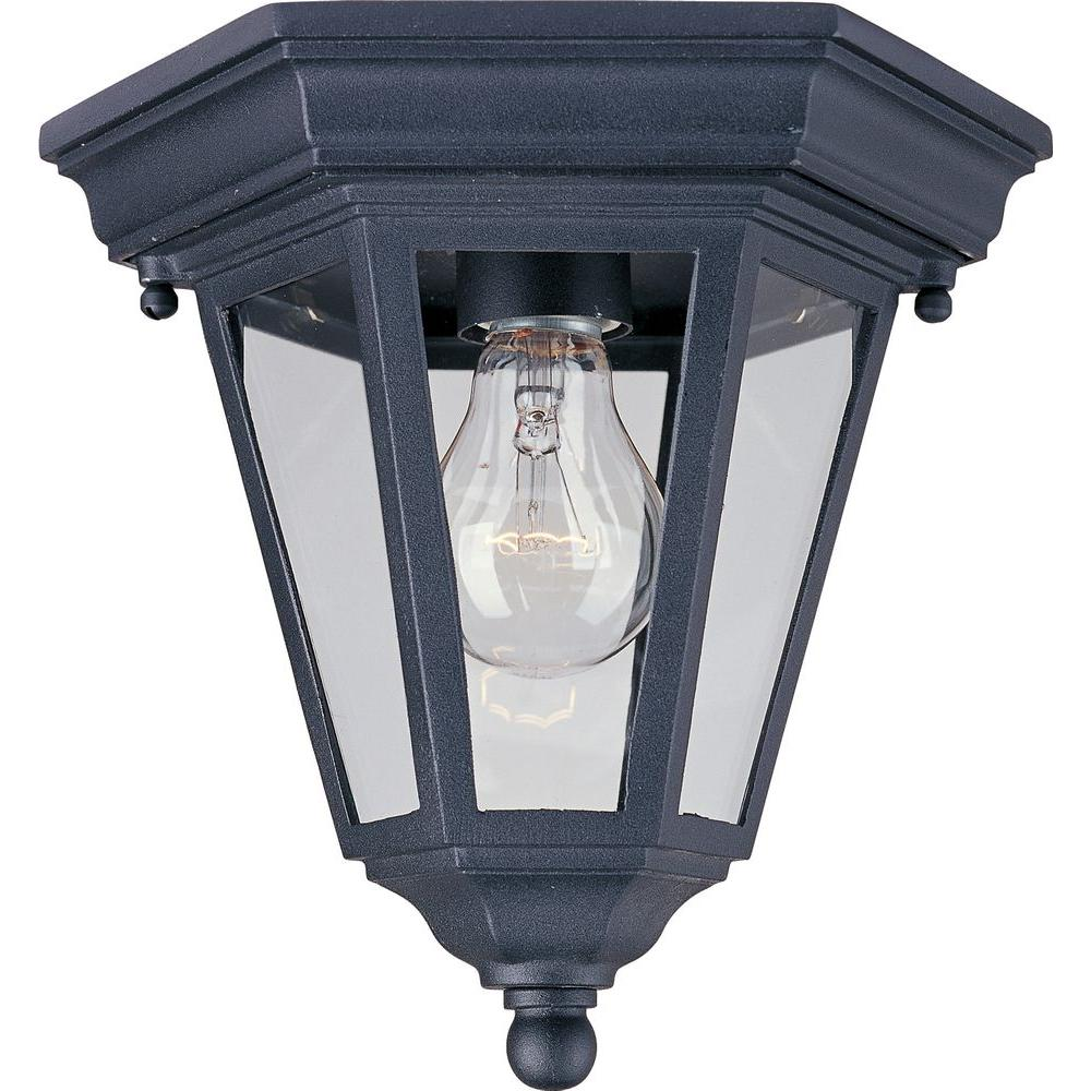 Westlake 1-Light Black Outdoor Flushmount