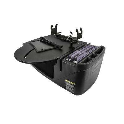 Roadmaster Car Desk with Inverter, Phone Mount and Printer Stand in Black