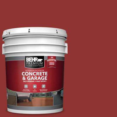 5 gal. #BIC-49 Red Red Red 1-Part Epoxy Satin Interior/Exterior Concrete and Garage Floor Paint