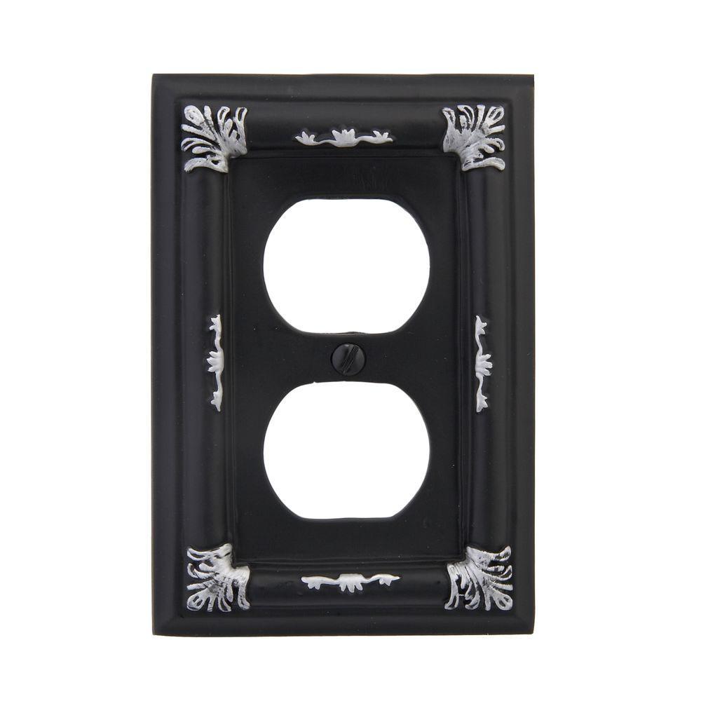 Amerelle Isabella 1 Duplex Wall Plate - Black