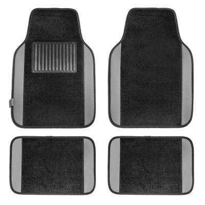 Gray Premium 4-Pieces 25 in. x 17.5 in. Carpet Car Floor Mats
