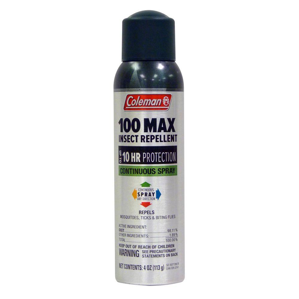 4 oz. Max 100% Deet Insect Repellent Continuous Spray