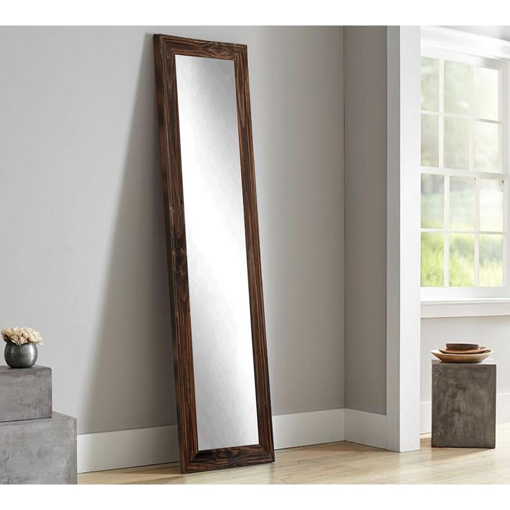 Rustic Espresso Full Length Framed Mirror-BM17THIN - The Home Depot