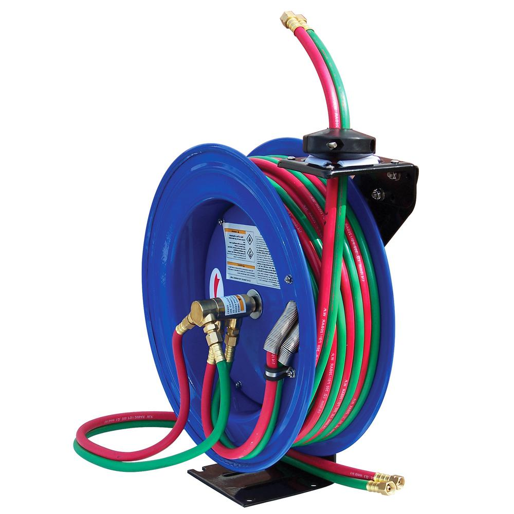 Cyclone Pneumatic 50 ft. Professional Dual-Hose Welding Reel