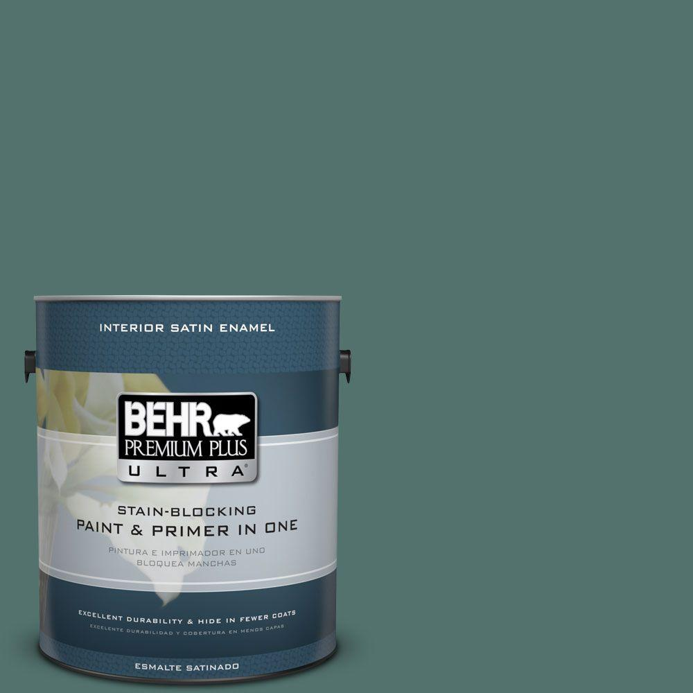 1 gal. #HDC-WR16-04 Noble Fir Satin Enamel Interior Paint