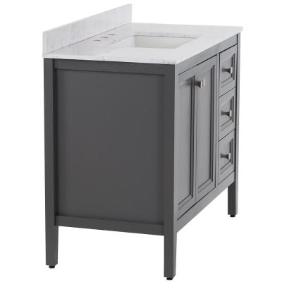 Darcy 43 in. W x 22 in. D Bath Vanity in Shale Gray with Stone Effect Vanity Top in Lunar with White Sink